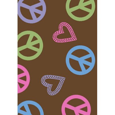 Alisa Peace and Polka Hearts Kids Rug Rug Size: 2'7