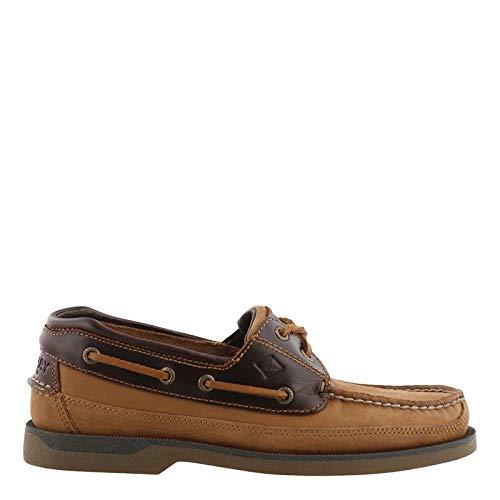 - Sperry Men's Mako 2-Eye Boat Shoe, Taupe/Amaretto, 11.5 W US