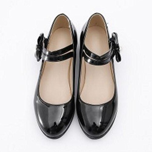 Pumps Shoes Mary Women JOJONUNU Fashion Jane Black XPxR7qwIwn