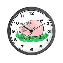 CafePress - Pig Clock - Unique Decorative 10 Wall Clock