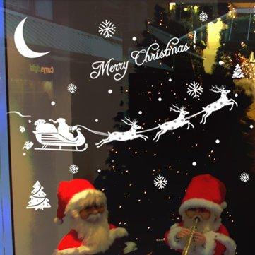 Christmas Sale - Window Decals Snow Decal Christmas Anti Deer Spray Windows Bracelet - Christmas Santa Cla Reindeer Snowflakes Wall Sticker Decoration - Christmas Decals For Windows - - Santa Clarita Ford
