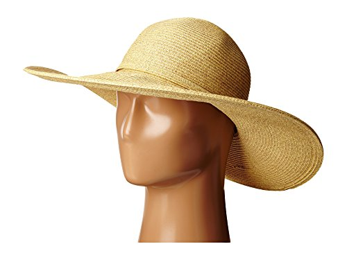 SCALA Women's Big Brim Paper Braid Hat, Toast, One Size ()
