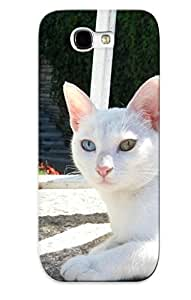 Fashionable Style Case Cover Skin Series For Galaxy Note 2- Animal Cat White Animal