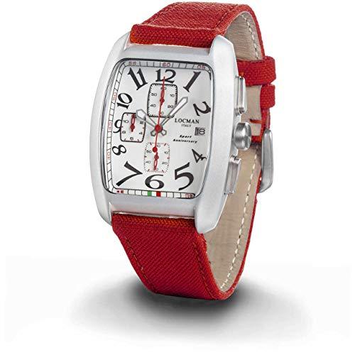 Locman Italien herrklocka sport årsdag chrono röd Ref. 0470