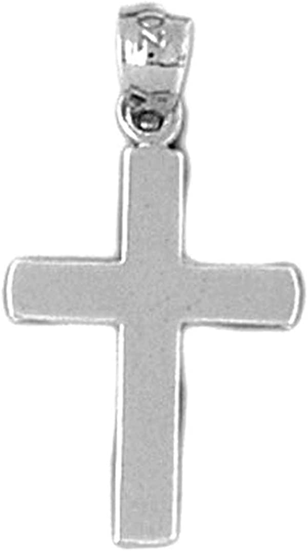 Rhodium-plated 925 Silver Latin Cross Pendant with 18 Necklace Jewels Obsession Silver Cross Necklace