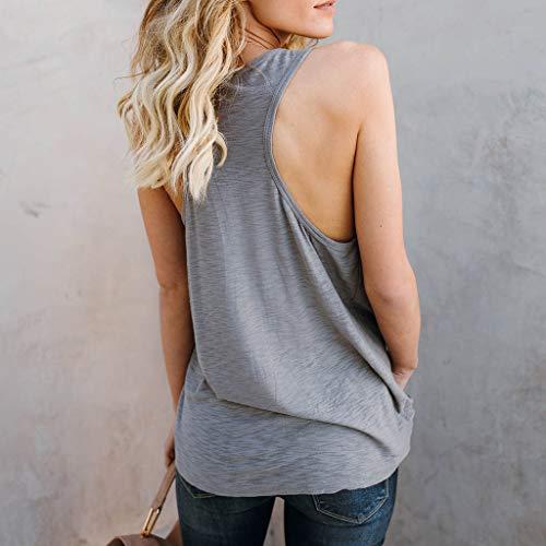 9f100436747bb7 NUWFOR Women Letter Vest Sleeveless Loose Crop Tops Tank Tops Blouse Tops T- Shirt(