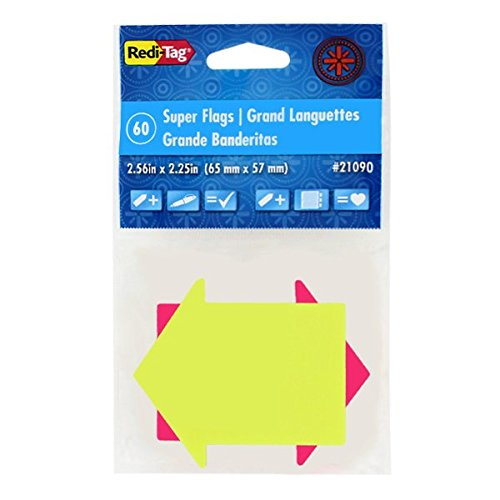 Redi-Tag - See-Notes Page Flags, 60 flags, 12-pack (Redi Tag Notes See)