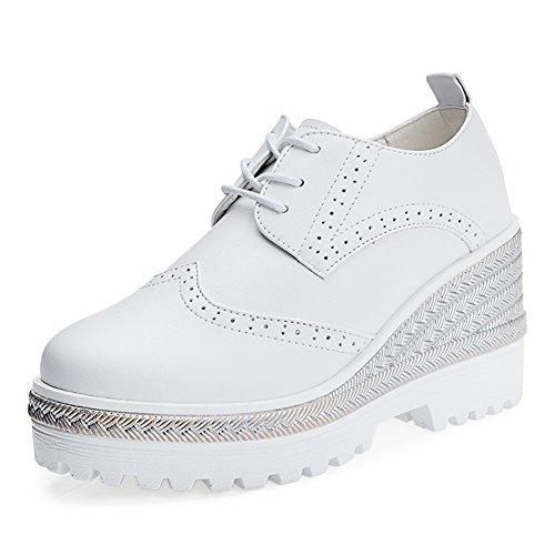 zapatos de primavera/las mujeres zapatos de plataforma de tie-back/Plataforma cuñas zapatos/Bloch zapatos mujer/zapatos de tacón alto de cabeza redonda A