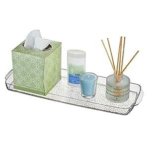 Amazon.com: mDesign Long Plastic Bathroom Vanity ...