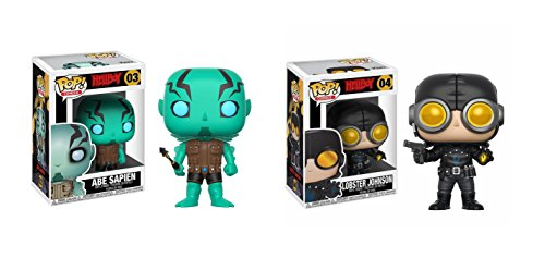Funko POP! Comics Hellboy: Abe Sapien POP and Lobster Johnson POP Toy Action Figure - 2 POP BUNDLE (Abe Figure Sapien)