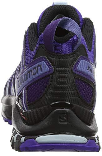 Para Salomon Mujer Azul Trail Running Pro Zapatillas deep Xa De W black Purple Blue 3d parachute zqz8rwU