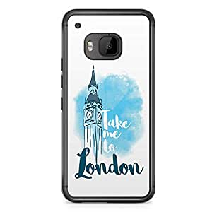 London HTC One M9 Transparent Edge Case - Destinations of the World