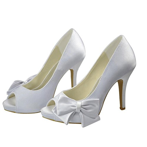 Sandales blanc 10cm White Heel femme Minitoo pour 6Ugww7
