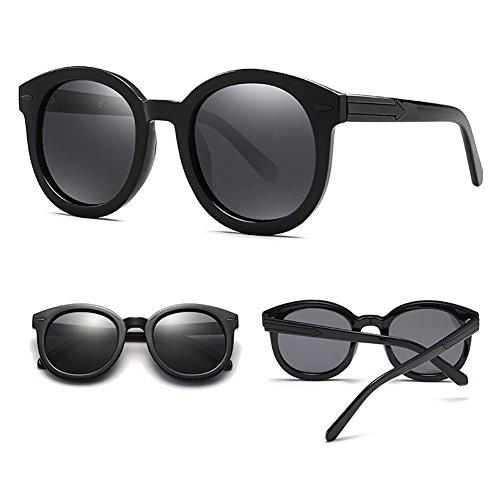 que las Color de de de Gafas redondas polarizadas de peso YXX Gafas Negro mujeres la UV400 manera la playa conducen ligero de Sandy sol Tx8dC