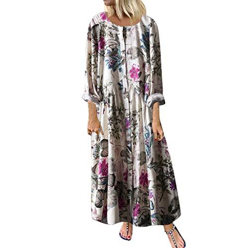 Toimothcn Womens Vintage Floral Print Long Maxi Dress Bohemian Spaghetti Straps Plus Size Dresses(Pink1,XXXXL) (Best Leggings Brand Canada)
