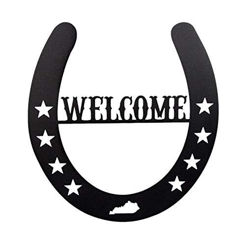(Kentucky Horseshoe Welcome Sign)
