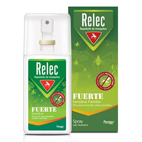 🥇 Relec Fuerte | Spray Antimosquitos | Repelente de mosquitos | Eficaz contral el mosquito tigre | Sin olor