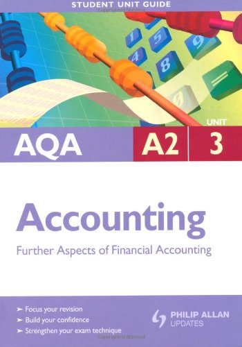 AQA A2 Accounting: Unit 3: Further Aspects of Financial Accounting