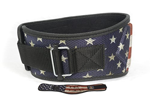 (Fire Team Fit Weightlifting Belt, Olympic Lifting, Weight Belt, Weight Lifting Belt for Men and Women, 6 Inch, Back Support for Lifting (Stars and Bars, 38