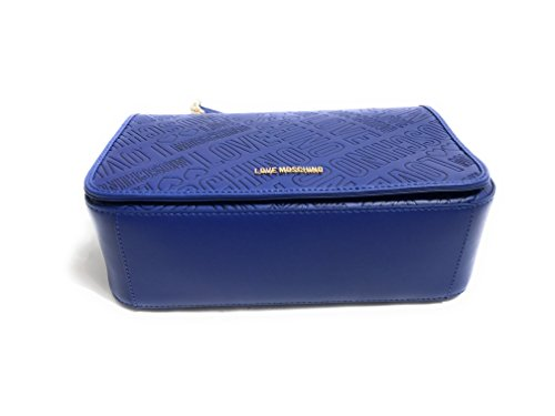 BORSA DONNA LOVE MOSCHINO EMBOSSED COLORE BLU B18MO40