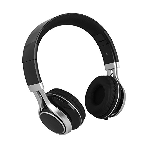 YHhao Over-Ear Headphones, On-Ear Headsets Noise Cancelling Foldable Headphones with Mic and 3.5mm Detachable Cord for iPhone, iPad, Android Smartphones, PC, Computer, Laptop, Mac, Tablet, Black by YHhao (Image #2)