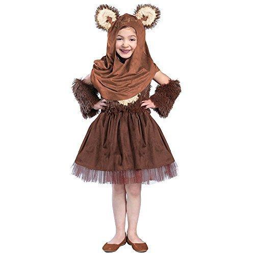 Princess Paradise Girls' Classic Star Wars Premium Wicket Dress, Brown, (Ewok Costume Womens)