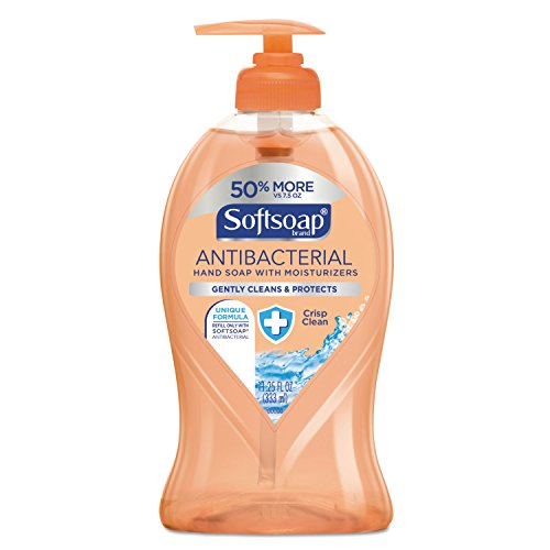 Softsoap 44571 Antibacterial Hand Soap, Crisp Clean, 11 1/4 oz Pump Bottle, (Bottle Carton)