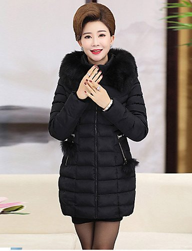 XL Polyester ZHUDJ Casual Plus Polypropylene Cotton Padded Camouflage Cute Coat Cotton Size Solid Women'S Going Out Simple Vintage Black Regular Daily qHCgawq