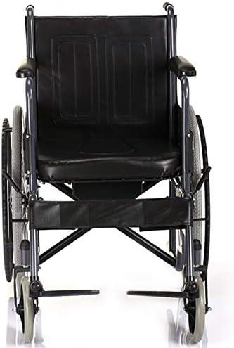 JD Ganzstahl-verstärkte Rollstühle Weiche Sicherheitsgurte Faltbare Rollstühle Praktische Haushaltsmodelle