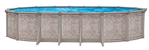 QCA Spas 206SD1833 Sunscape 18 by 33-Feet and 52-Inch Deep Oval Above Ground Pool with Blue Overlap Liner by QCA Spas