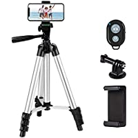 Ibeston 42 Inch Portable Aluminum Smartphone or Camera Tripod with Bluetooth Wireless Remote Control, (Ibeston)