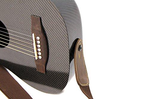4c51ec21fc9 KLOS Black Carbon Fiber Travel Acoustic Guitar Package (Guitar, Gig Bag,  Strap, Capo, and more)