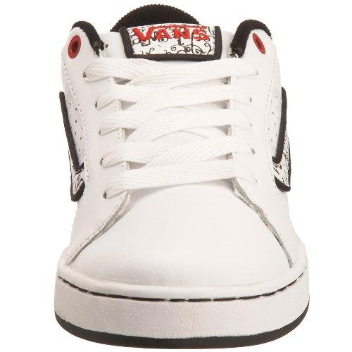 Vans - Zapatillas de deporte de cuero nobuck para mujer blanco