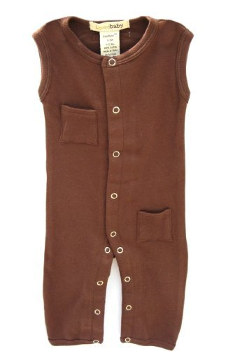 L'ovedbaby Sleeveless Overall, Brown 0-3 Months Size: 0-3 Months Color: Brown Model: 440-BR3