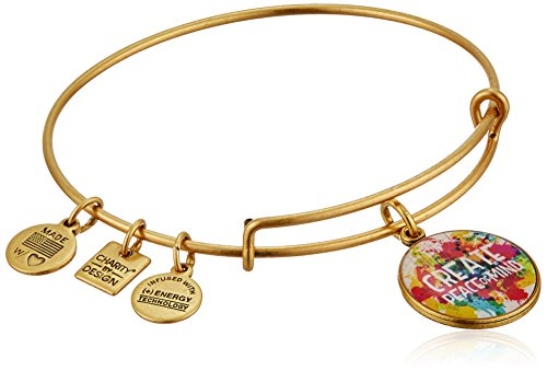 Alex and Ani Charity By Design Peace of Mind Rafaelian Gold Bangle Bracelet