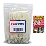 CozYours Candle Wicks for Candle Making, 6 inches, 100 PCS