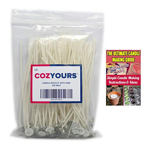 (CozYours Candle Wicks for Candle Making, 6 inches, 100 PCS)