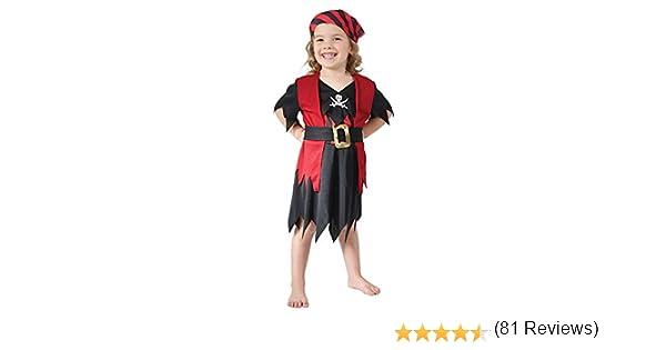 Theme Fancy Dress Disfraz de niña de Pirata del Caribe. 3 años ...