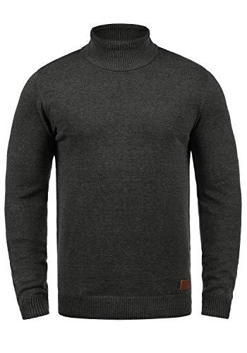 mailles à roulé col Rolli et col à fines à gris Latif tricoté pour Blend hommes foncé70818 Pull roulé Pull lFKTJc1