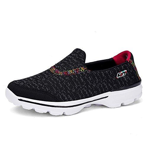 Fondo Zapatos de de Verano black Ligeros de Zapatos Suave Mamá y Zapatos Antideslizantes Deportivos Primavera Hasag Mujer FwzcqvfOUx