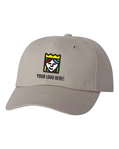 Queensboro Shirt Company Custom Embroidered Sportsman Cotton Baseball Hat - Free Logo Setup - Pack Of 5