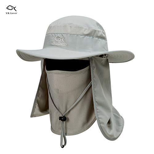 81b62817c9a Lover Outdoor UV Sun Protection Wide Brim Fishing Cap -Men and Women Face