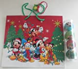 NEW DISNEY Mickey, Minnie, Donald, Pluto Christmas Ornament Set Of 4 + Gift Bag