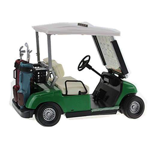 Golf Cart Clock (Crestgolf LCD display Mini Golf Cart clock Race souvenir novelty golf gifts (green))