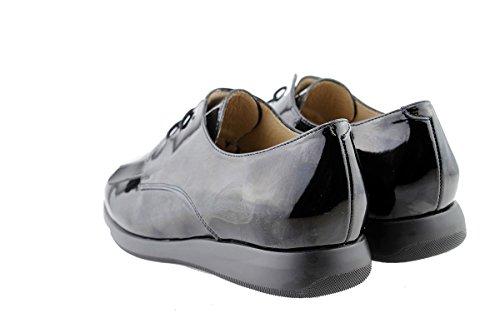 con Negro Lacci Black 175637 Scarpe pelle larghezza PieSanto donna speciale comfort SxPxTwqX7