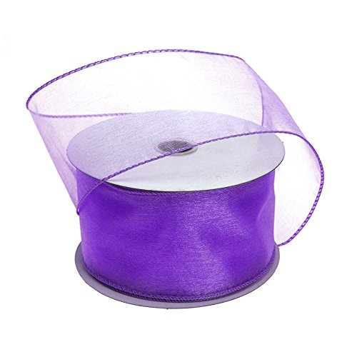 Homeford FJT0000090344011 Ribbon, 2-1/2'', Purple by Homeford