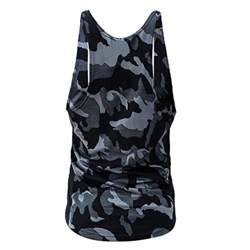 a9aeb1de50b Letdown Men tops 2019 Shirts Men Camouflage Stripe Sports Vest Striped  Splice Large Open-Forked Male