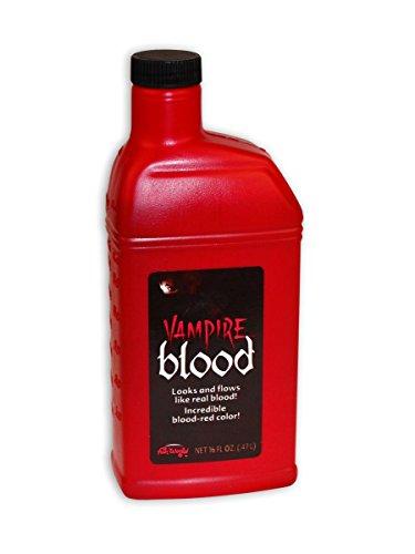 Close Up Bottle of Fake Blood