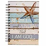 Christian Art Gifts 361815 Journal - Wirebound - Be Still - Large