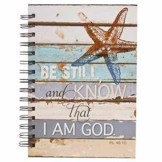 Christian Art Gifts 361815 Journal - Wirebound - Be Still - Large by Christian Art Gifts
